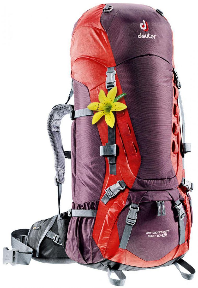 Deuter 2015 Aircontact Aircontact 50 + 10 SL aubergine-fire туристический рюкзак